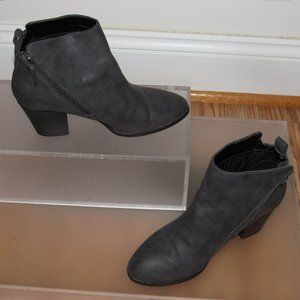 EXPRESS Gray Ankle Booties Size 7